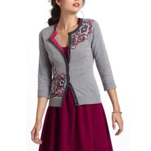 Anthropologie Tabitha embroidered cardigan